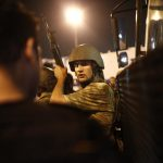 epa05427175 Turkish police arrest Turkish soldiers at the Taksim Square in Istanbul, Turkey, 16 July 2016. Turkish Prime Minister Yildirim reportedly said that the Turkish military was involved in an attempted coup d'etat. The Turkish military meanwhile stated it had taken over control.  EPA/SEDAT SUNA